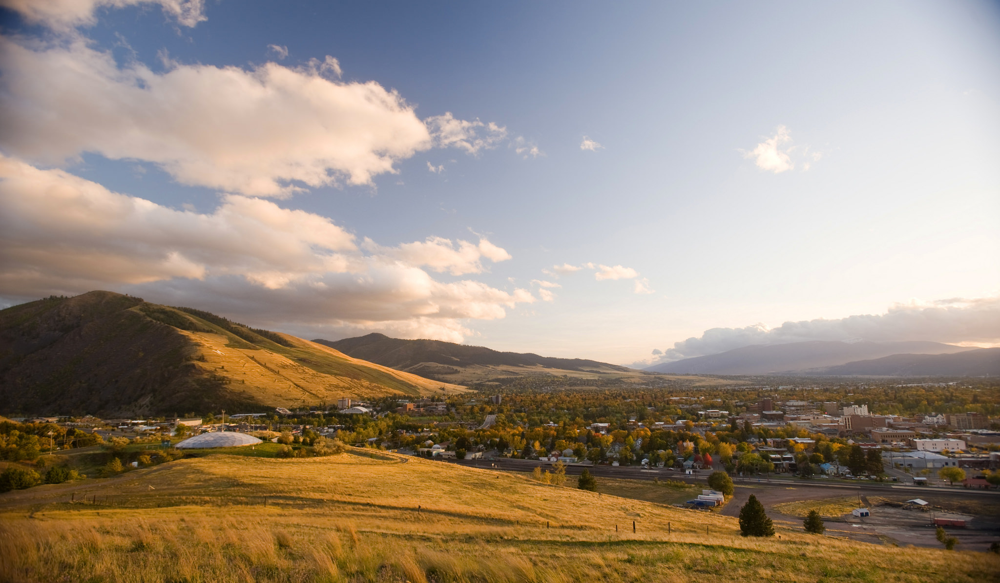 Missoula, MT is home to the University of Montana and the Montana World Trade Center.