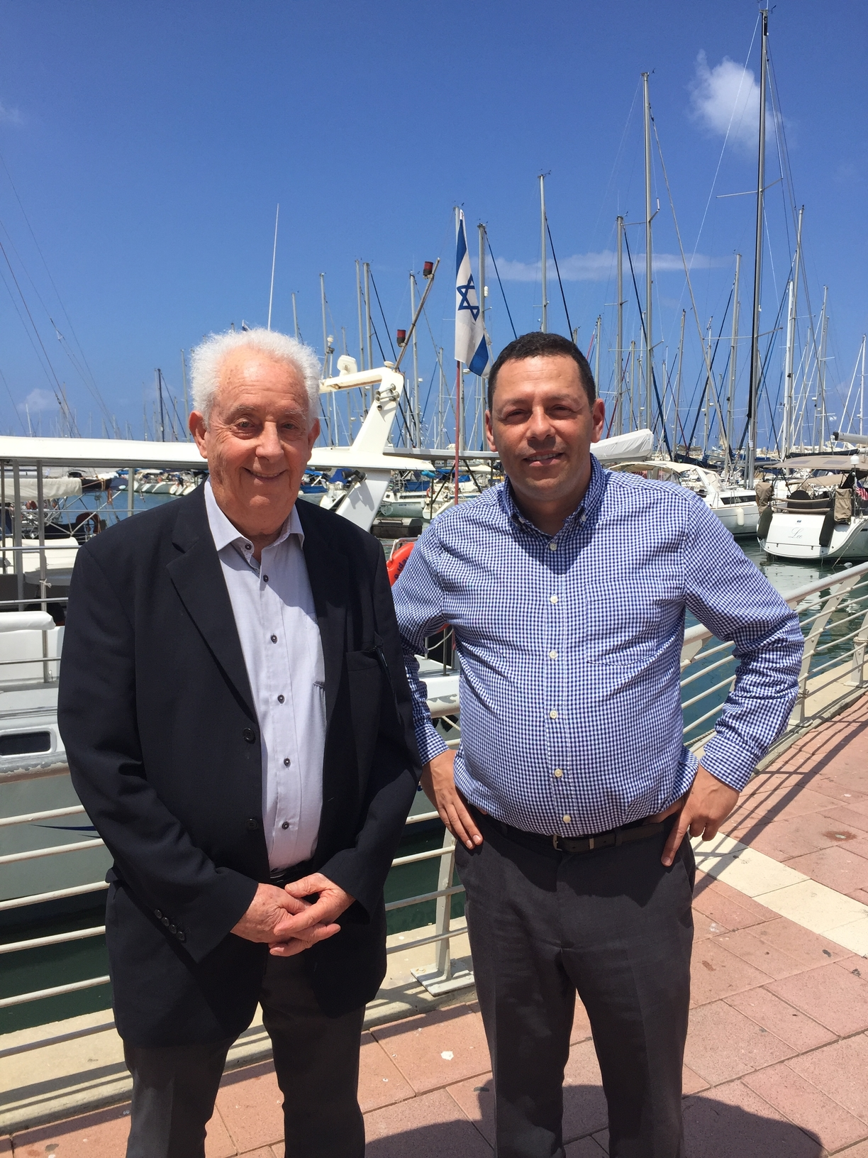 Israeli water expert, Professor Avner Adin, and Senior Advisor to Montana Governor Bullock, Eric Stern, in Tel Aviv.