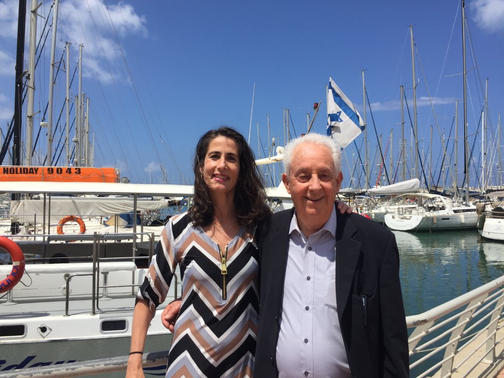 Professor Avner Adin with Executive Director Brigitta Miranda-Freer during the recent trade mission to Israel in May 2017.